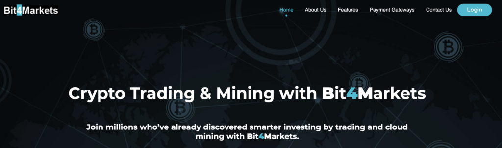 Da Bit4Markets parlano di mining e trading, ma non è altro che una truffa