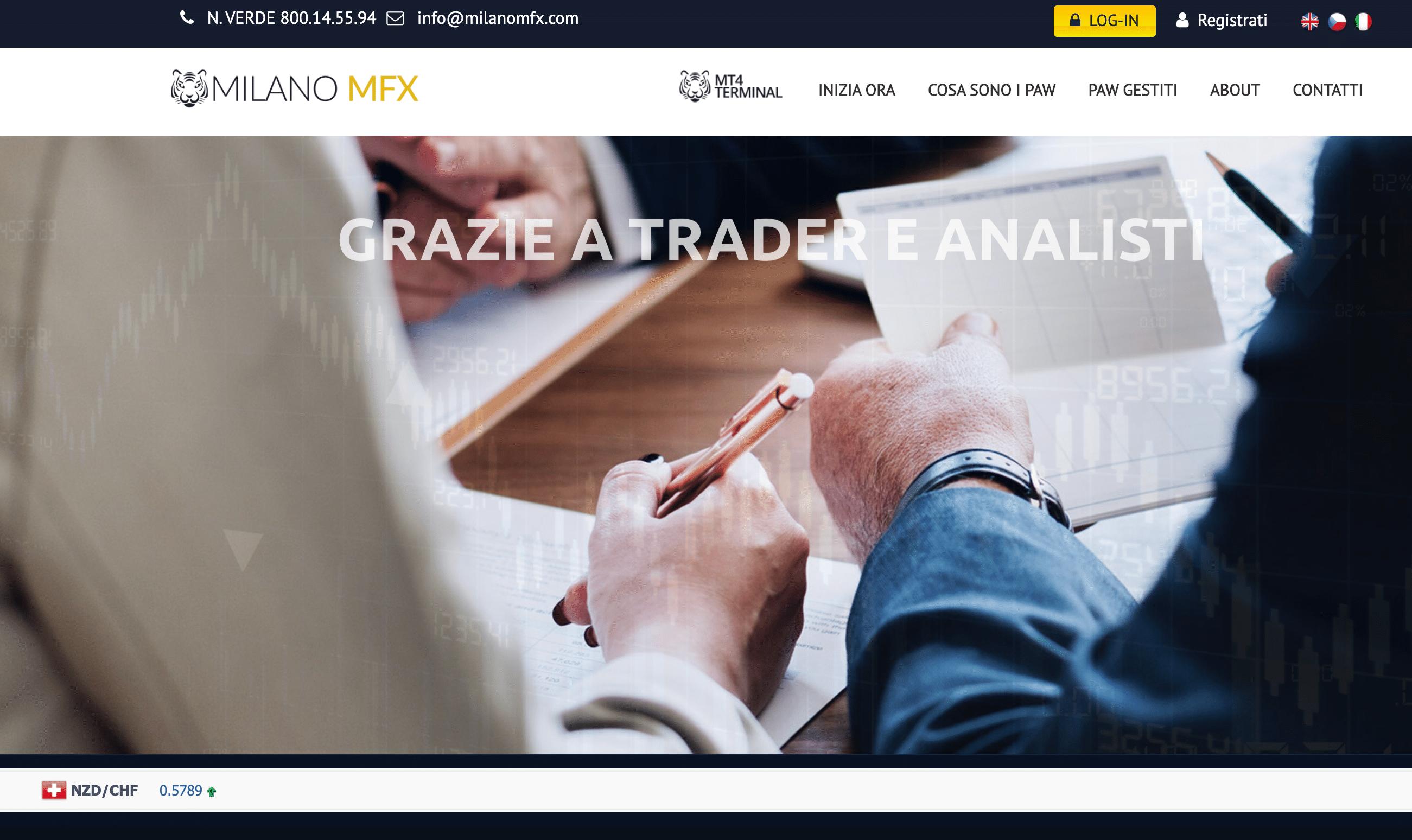 Milano MFX è una Truffa? Opinioni e recensioni
