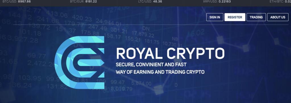 Royal Crypto NON È un broker di criptovalute affidabile