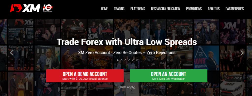 homepage sito ufficiale xm.com