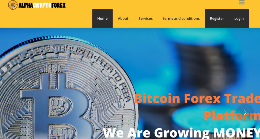 Alpha Crypto Forex è un sistema truffaldino parte di un network di truffatori