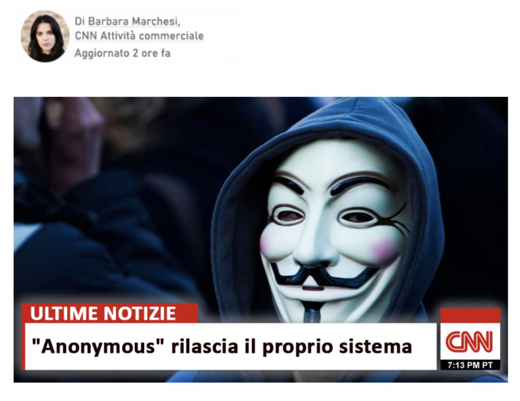 In realtà Anonymous non è affatto coinvolto in Anon System. Una truffa come tante.