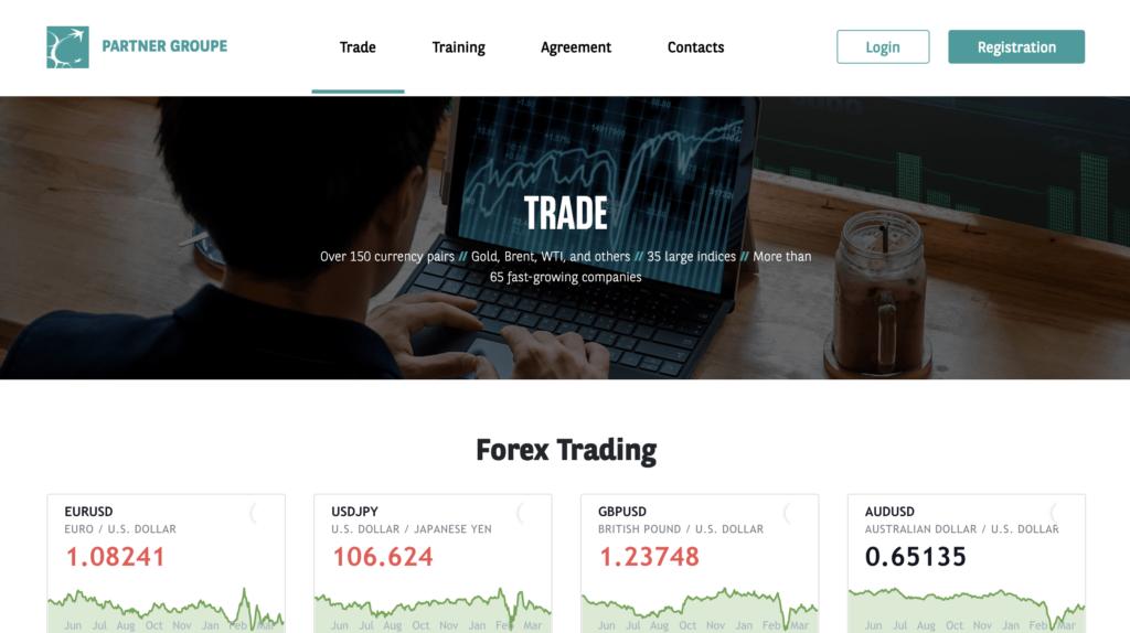 Partner Groupe è una truffa classica del trading