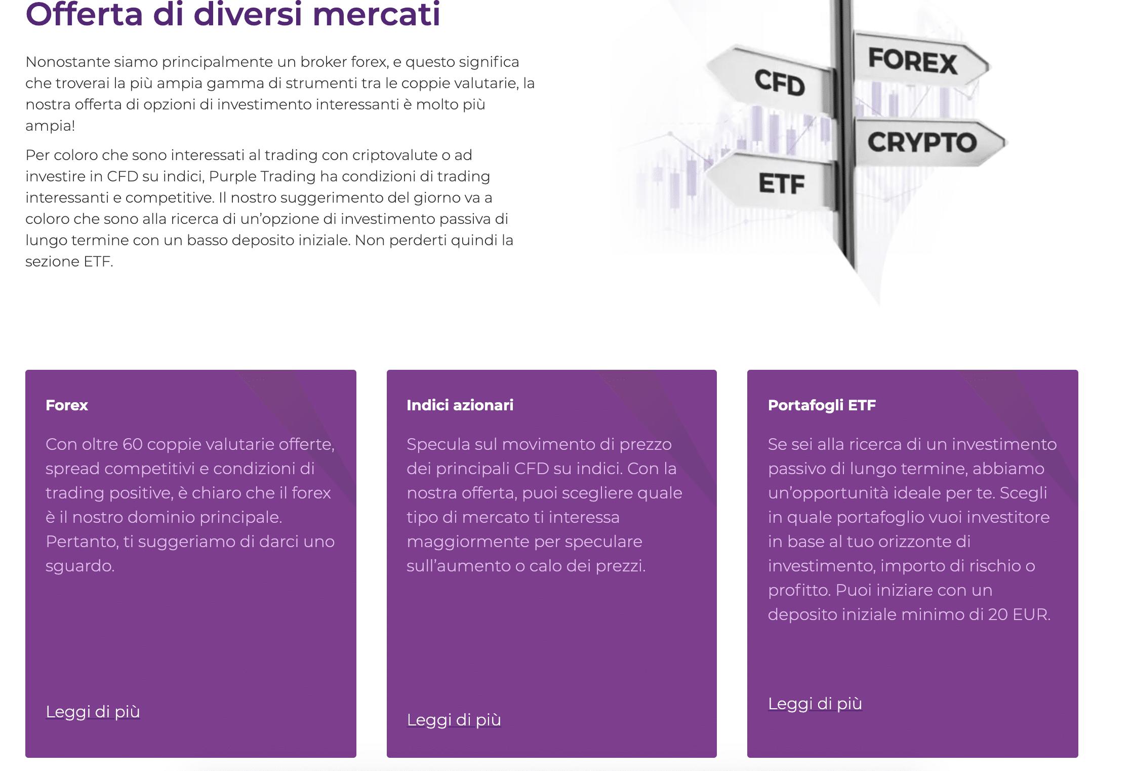 Purple Trading come funziona: Opinioni e recensioni