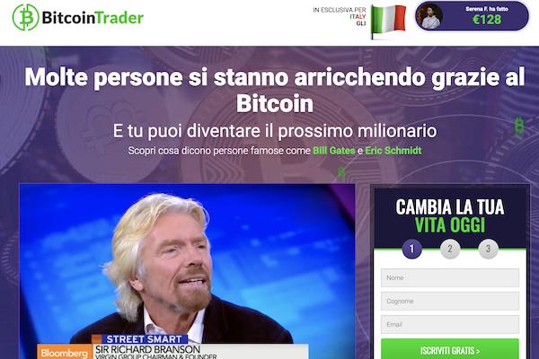 Bitcoin Trader è una truffa clone