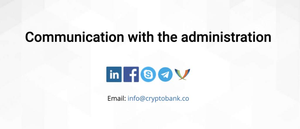 Contatti truffa Crypto Bank