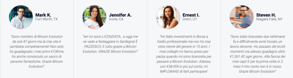 recensioni false su bitcoin evolution
