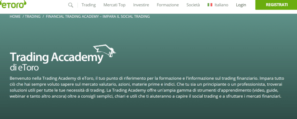 Corso trading etoro gratis