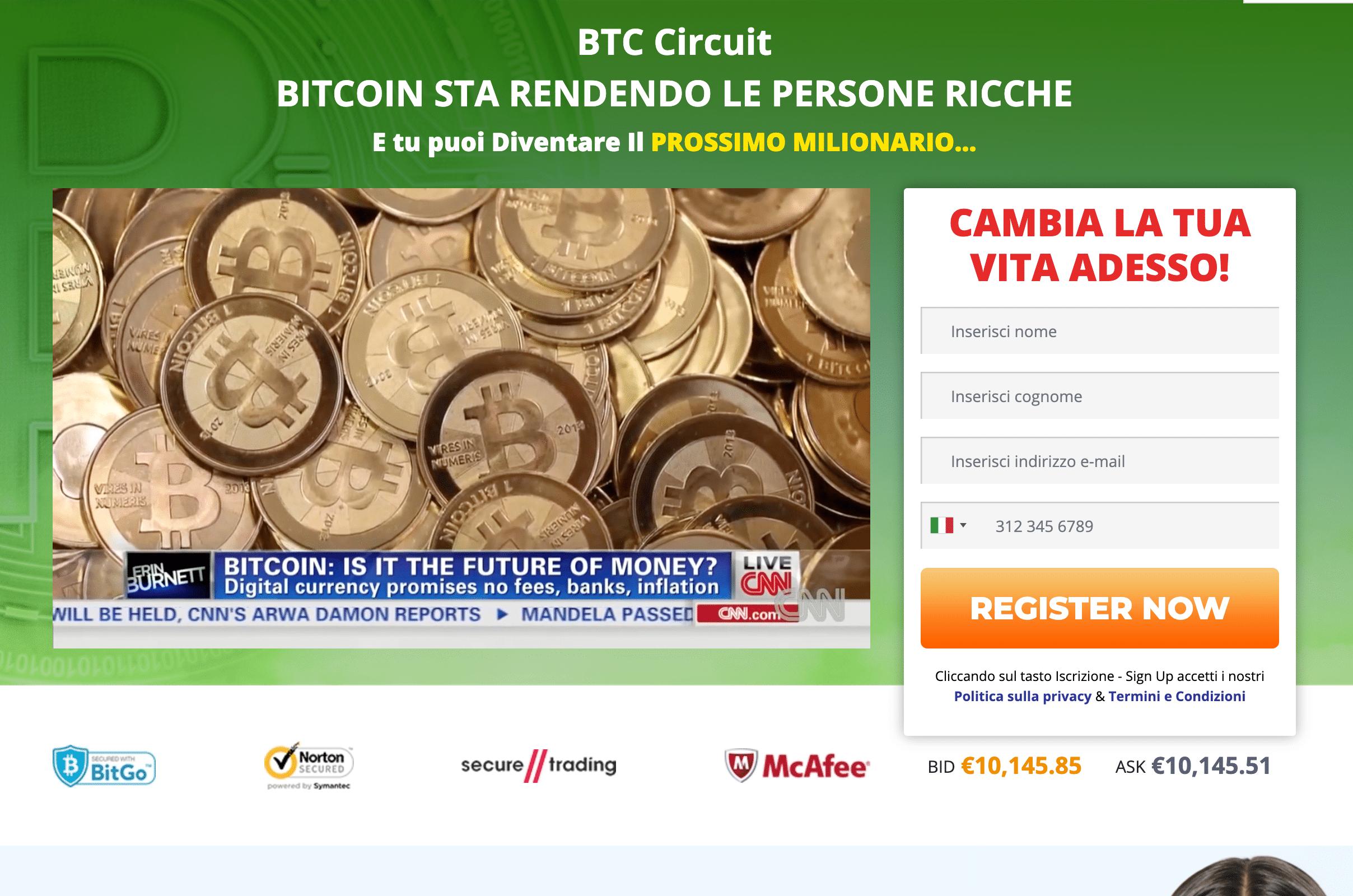 venire iscriversi un profitto bitcoin